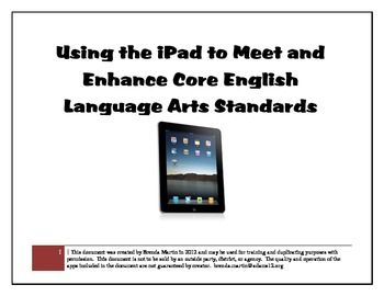 ipad apps to help support the ELA common core standards