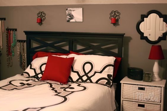 Bedrooms With Grey And Red | BEDROOM BEFORE. I Donu0027t Know If You Can Tell,  But That Paint Color ... | Grey Bedrooms | Pinterest | Red Bedrooms,  Bedrooms And ... Part 94