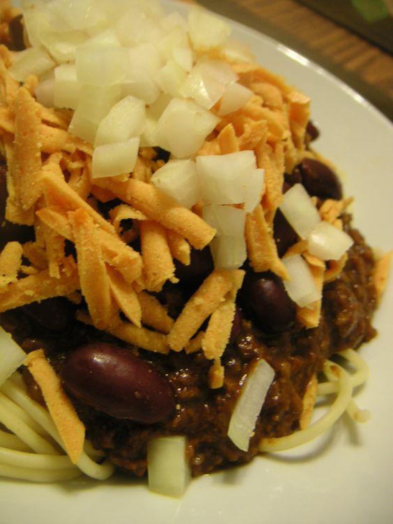 Skyline chili, Chili and Vegans on Pinterest