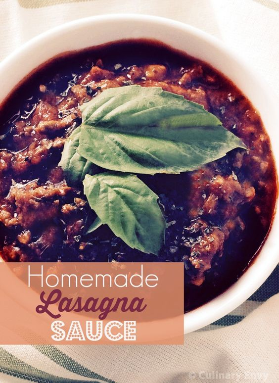 Homemade Lasagna Sauce