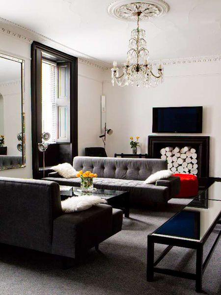 Berkeley House, modern Georgian interior of white and black. I'm on to something now...