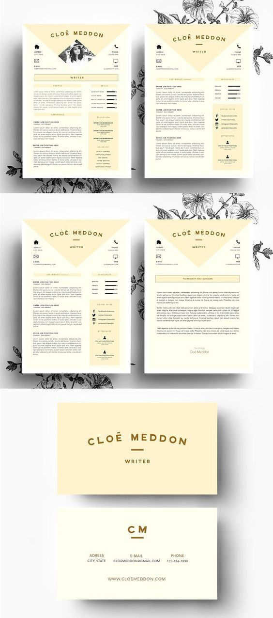 Peach-Beige Resume Template Creative business cards, Resume and - resume template creative