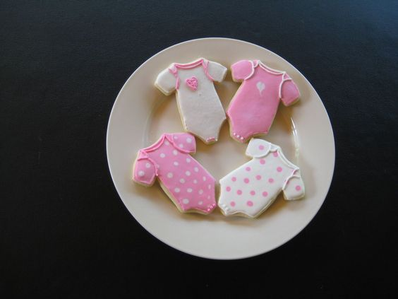 Baby Girl Cookies - baby girl cookies for a shower.  Used my favorite sugar cookie recipe with royal icing.
