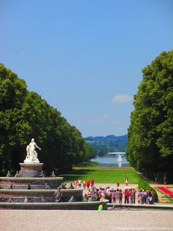 Blick vom Schloss #Herrenchiemsee in Richtung Prien am Chiemsee, Bavaria- Germany