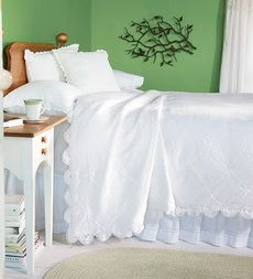 Hand-Crocheted Cotton Victorian Bedding