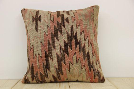 Hand Woven Turkish Kilim Cushion/ pillow Cover by kilimwarehouse, $55.00