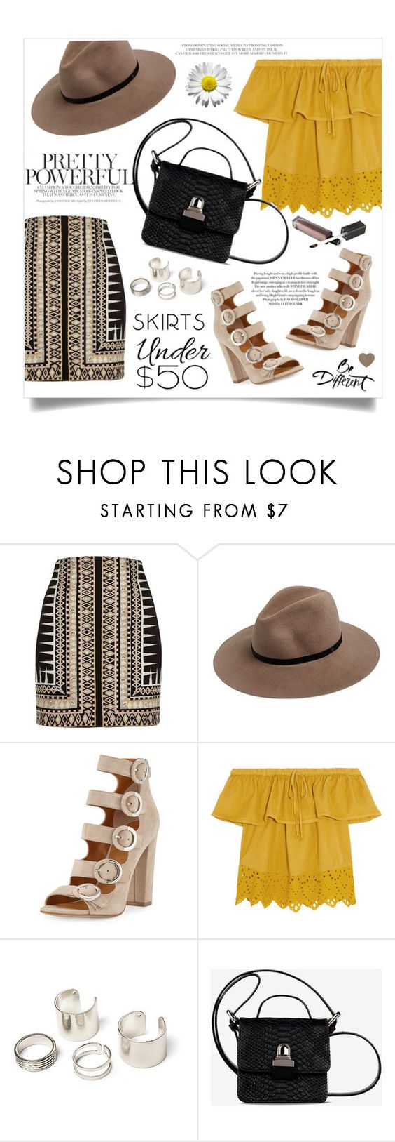 """Affordable skirt"" by anchilly23 ❤ liked on Polyvore featuring River Island, rag & bone, Kendall + Kylie, Madewell and MM6 Maison Margiela"