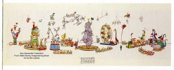 Dumbo's Circus Show Concept Art-Unbuilt-Disneyland