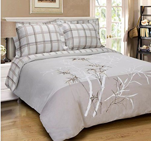 3 Piece Willow Branches Design Duvet Cover Set Full Queen Size