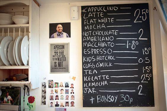 The menu. Photo: © Toby Allen Photography