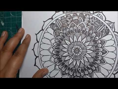 How to draw a Mandala (Step by Step Process) - YouTube ...