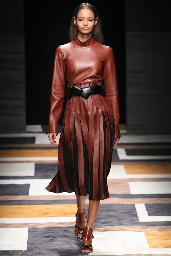 Salvatore Ferragamo Fall 2015 Ready-to-Wear Fashion Show - Malaika Firth