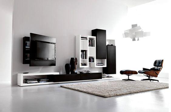 Einbaukamin Wohnzimmer Sofa Dielen Minimalistisch