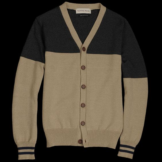 UNIONMADE - Universal Works - Summer Knit Spilt Cardigan in Sand