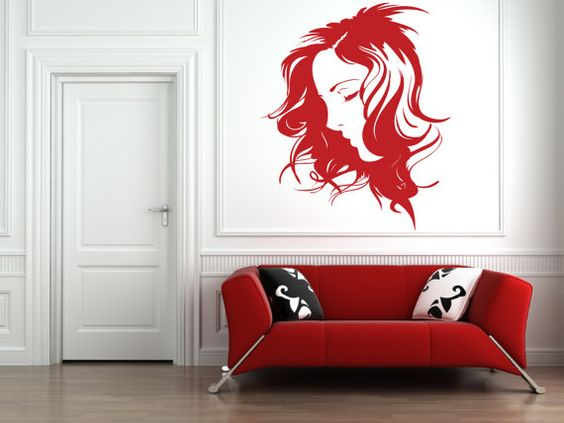 Beautiful Peaceful Woman Removable Wall Art Decor by Signs4Half