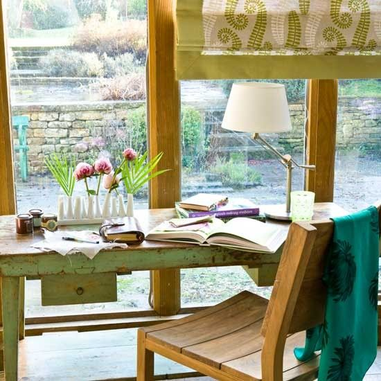 Garden view home office | Home offices | Decorating idea | Image | housetohome.co.uk
