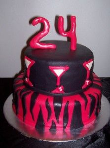 happy birthday cake 24 year Cake Desings Pinterest