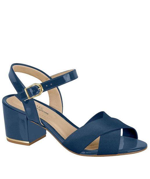 Sapato Feminino Via Marte Salto Grosso Verniz