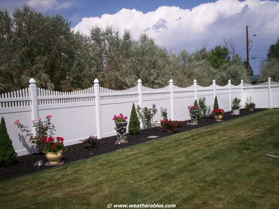 You'll have everyone oohing and ahhing over the Halifax Vinyl Privacy Fence