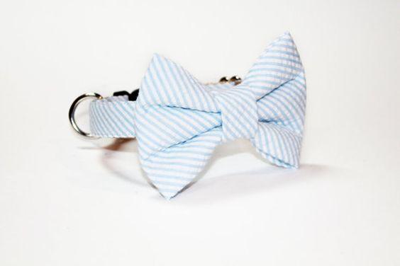 Dog Collar Bow Tie Dog Collar Wedding Dog Collar by JalinaColon, $39.00