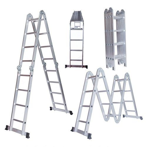 15 5ft Aluminum Multi Purpose Step Ladder Folding Telescoping Extension Ladder Ladders Scaffolding Step Ladders Ladder