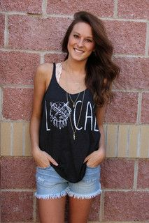 Local shield skinny strap tank top-more colors