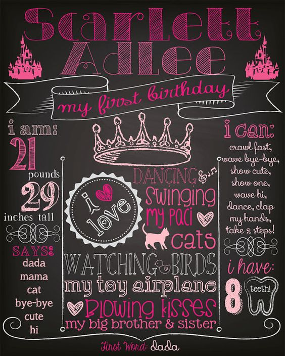 PRINCESS Customized Chalkboard First--- I need to remember to do a crown on Addy's that I make her