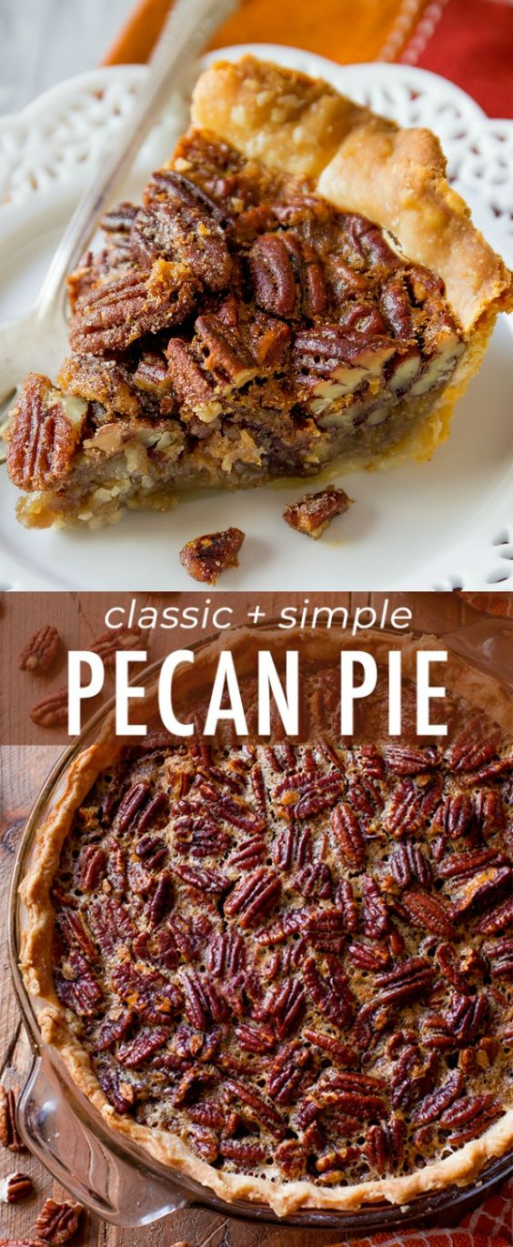Classic And Simple Pecan Pie Recipe. Image from Sally's Baking Addiction