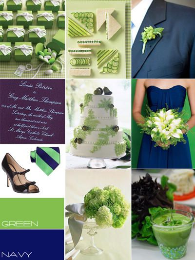blue green wedding colour, navy
