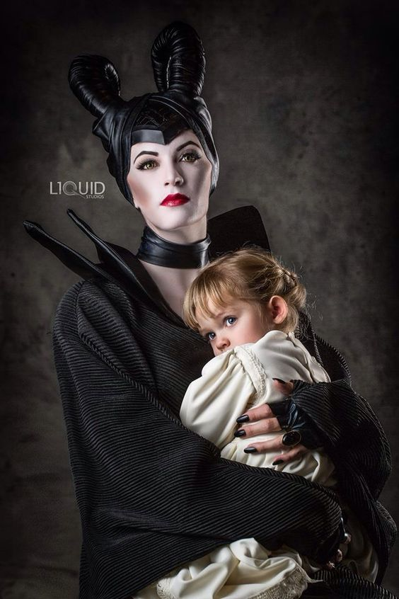 Maleficent and Aurora. Mother daughter costume. Angelina ...