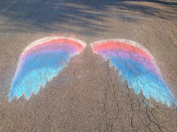 I drew this today on the street with just regular chalk! I'm in love!