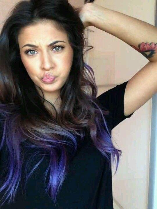 dyed tips dark brown hair - Google Search | Dyed hair | Pinterest ...