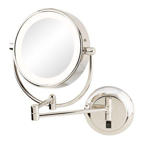 Aptations Neomodern Polished Nickel Led Lighted Wall Mirror