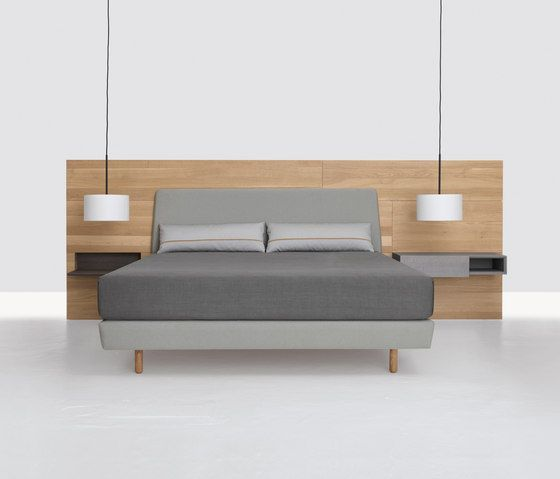 Solid Wood Support Double Bed Simple Design And Suitable Grey Collocation Make This Bed Full Of Design Feeling With Images