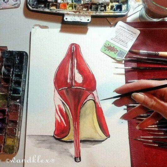 Cinderella, hier ist Dein Schuh....  #etsyseller #etsyfinds #etsygifts #etsyfindes #unseretsy #shoe #stiletto #pumps #schuh #absatz #fashion #illustration #highheel #stöckelschuh #heels #kunst #art