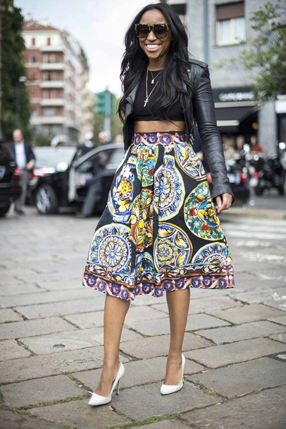 Milan Fashion Week Street Style Spring Summer 39 14 She Got That Style Printed Skirts