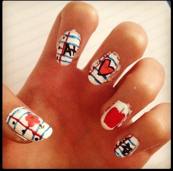 School nails hair fashion and nails pinterest nails school nails and schools Fashion style and nails facebook