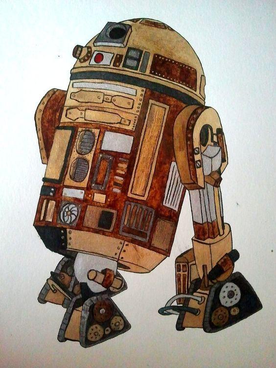 R2D2 steampunk style