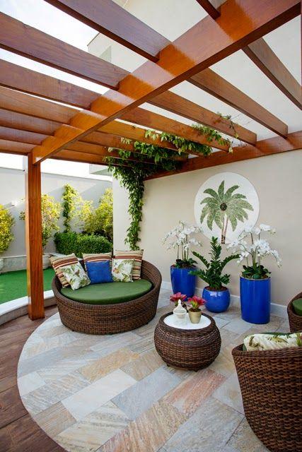 Vasos vietnamitas na decora o de ambientes internos e for Ambientes modernos interiores