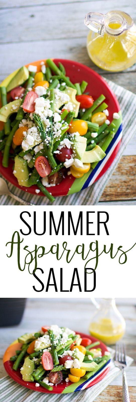 Summer Asparagus Salad Recipe Oh So Delicioso Recipe Dairy Free Vegetable Recipes Asparagus Recipe Homemade Salads [ 1600 x 542 Pixel ]