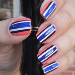 New Year, New Stripes | Kate's Mani - tutorial