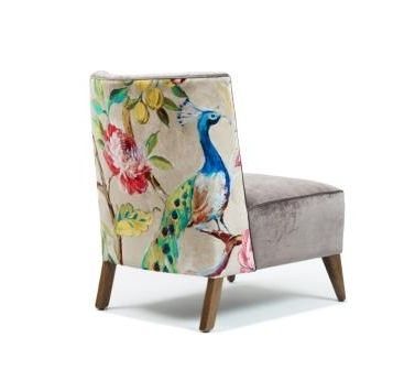 Romeo Fabric Accent Chair | Domayne Online Store Doesn't have to be this exact chair but I do like the idea of a simple chair with an unusual back design on it.: