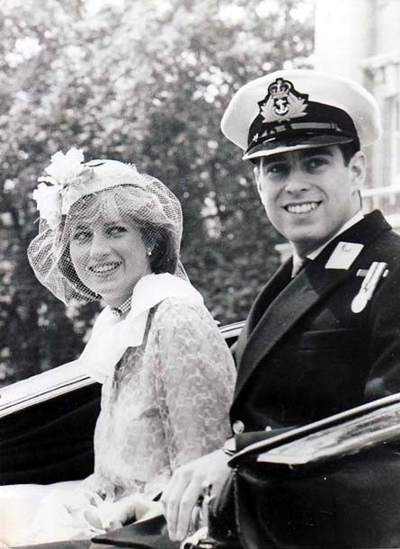 Princess Diana with Prince Andrew