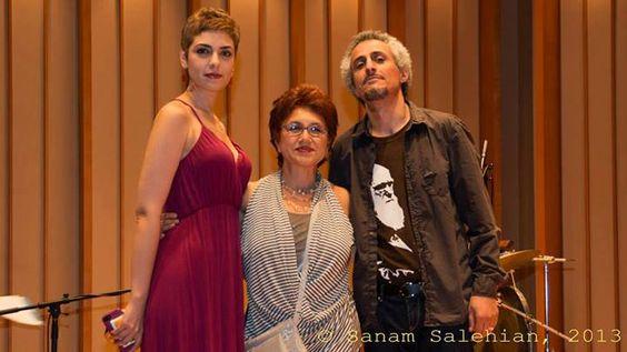 Mohsen Namjoo & his wife Bahar Sabzevari with Shari Rezai