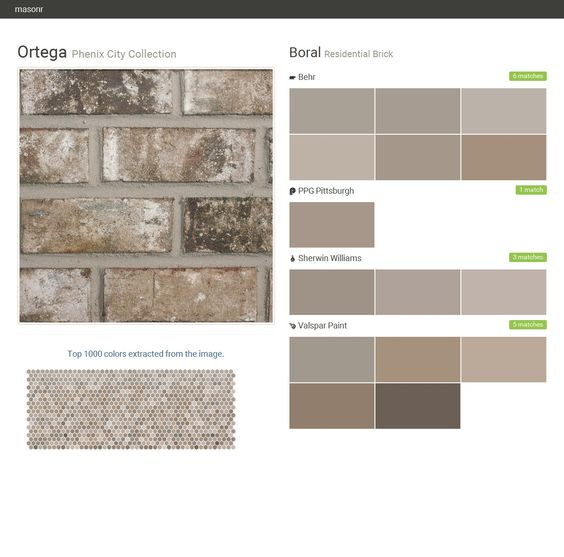 Ortega phenix city collection residential brick boral behr ppg paints sherwin williams - Breathable exterior masonry paint collection ...