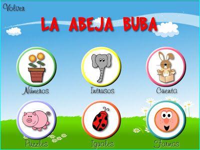 Juegos Educativos Para Ninos De 3 A 5 Anos Informatica Pinterest