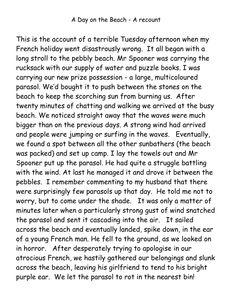 Describe a day at the beach essay