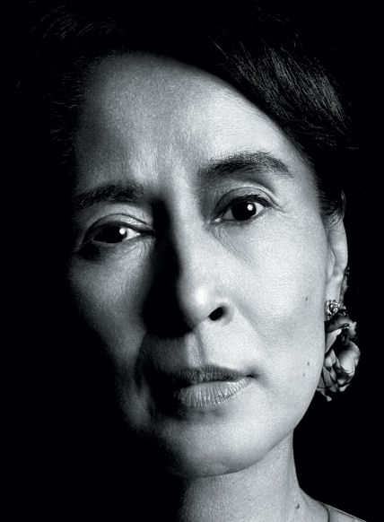Aung San Suu Kyi. Democracy activist in Myanmar (Burma) and Nobel Peace Prize winner, who kept the struggle going even when under house arrest for decades.