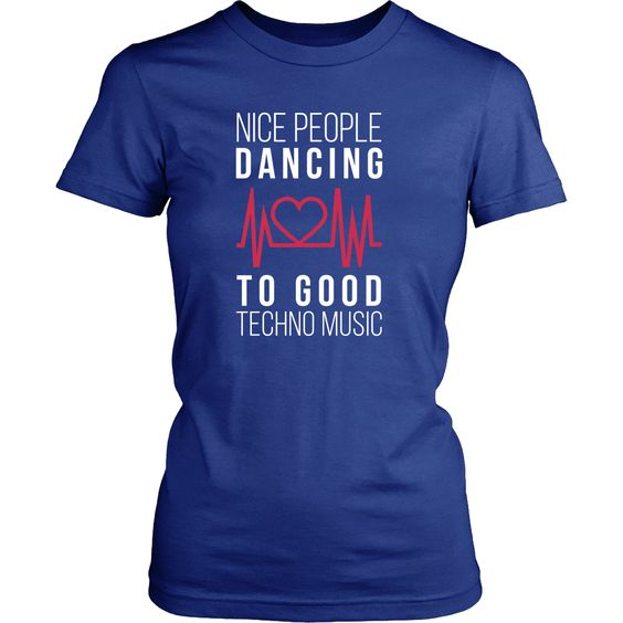 Nice people dancing to good Techno Music T Shirt