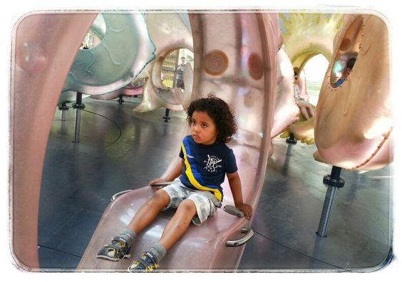Preston, my son at the SeaGlass Carousel